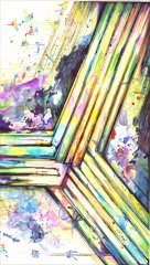 Ohne Titel 2017 - Aquarell, Künstlertusche - 100 x 70 cm