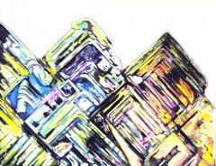 Solaris I - Aquarell, Tusche - 70x50 cm