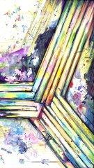 Symmetriade - Aquarell, Tusche - 100 x 70 cm