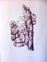 Ohne Titel/Untitled. Kugelschreiberzeichnung/Ballpoint Pen Drawing. 2017. ca. 50x70 cm
