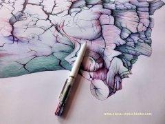 Kugelschreiber Zeichnung/Ballpoint Pen Drawing