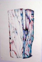 ohne Titel/Untitled. Kugelschreiberzeichnung/Ballpoint Pen Drawing. 2003. A3